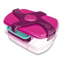 Velký svačinový box Maped Concept růžový