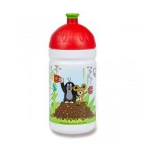 Zdravá lahev 0,5 l limitovaná edice, Krtek a jahody, červená