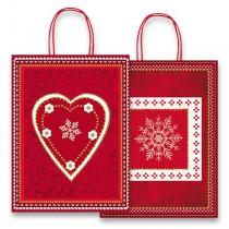 Dárková taška Fantasia Red & White 160 x 80 x 210 mm