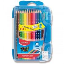 Pastelky Maped Color´Peps Smart Box 12 barev + doplňky, mix barev boxu