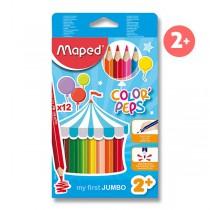 Pastelky Maped Color´Peps Jumbo 12 barev, trojhranné