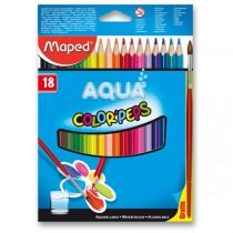 Pastelky Maped Color´Peps Aqua 18 barev + štětec