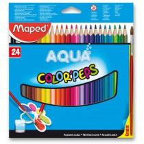 Pastelky Maped Color´Peps Aqua 24 barev + štětec