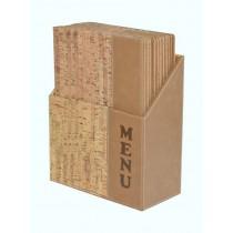 Box s jídelními lístky DESIGN, korek 10 ks