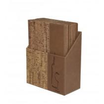 Box s vinnými lístky DESIGN, korek 10 ks