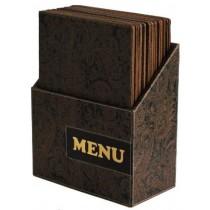 Box s jídelními lístky DESIGN, hnědý ornament 10 ks