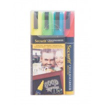 Sada 4 středních popisovačů, šířka hrotu 2-6 mm, červená, modrá, žlutá, zelená