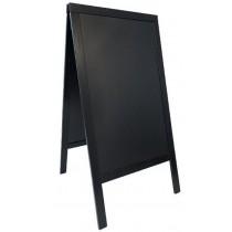 Nabídková stojanová tabule WOODY SANDWICH 125x70 cm, černá