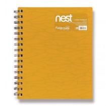 Spirálový blok FolderMate Nest zlatožlutý
