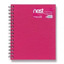 Spirálový blok FolderMate Nest růžový