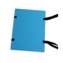 Desky s tkanicí KASST modré, jednostranně lakované - A5