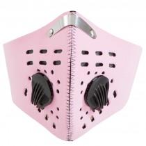 Růžový respirátor s filtrem KN95
