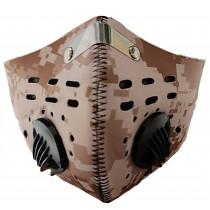 Hnědý respirátor s filtrem KN95