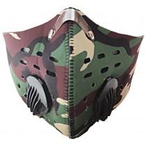 Respirátor Khaki s filtrem KN95 na suchý zip