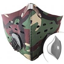 Respirátor Khaki s filtrem KN95 na suchý zip + Filtr navíc
