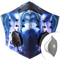 Modrý respirátor s filtrem KN95 + Filtr navíc