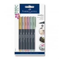 Popisovač Faber-Castell Pitt Artist Pen Metallic 6 barev