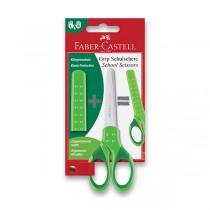 Školní nůžky Faber-Castell zelené