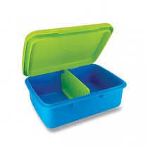 Svačinový box Zdravá sváča modrý/ zelený