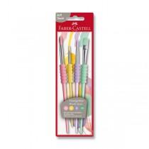 Štěteček Faber-Castell Soft pastelové, 4 ks