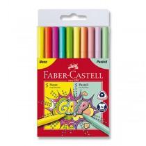 Dětské fixy Faber-Castell Grip 10 barev