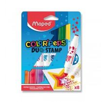 Dětské fixy Color´Peps Duo Stamp 8 barev