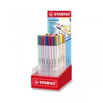 Fix Stabilo Pen 68 Brush stojánek, 80 ks