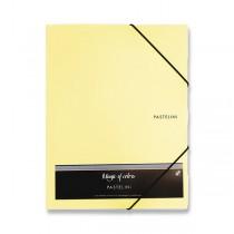 3chlopňové desky Pastelini žluté