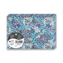 Obálka Clairefontaine Flowers tm. modrá, 114 x 162 mm