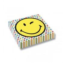 Papírové ubrousky Smiley World 33 x 33 cm, 16 ks