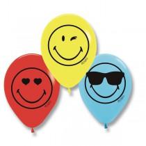 Nafukovací balónky SmileyWorld (6 ks), mix 6 ks