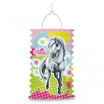 Papírová lampion Charming Horses 2 délka 28 cm