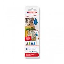 Popisovač Edding na textil 4600 modré odstíny, 5 barev