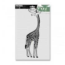 Plastová šablona AladinE - Žirafa 20 x 30 cm