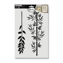 Plastová šablona AladinE - Větve 20 x 30 cm