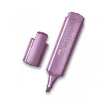 Zvýrazňovač Faber-Castell Textliner 46 Metallic metalický fialový