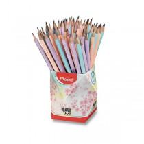 Grafitová tužka Maped Black´Peps Pastel tvrdost HB, stojánek 72 ks