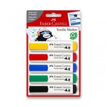 Popisovače na textil Faber-Castell 5 barev