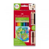 Pastelky Faber-Castell Children of the World 12 barev + 6 barev