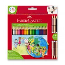 Pastelky Faber-Castell Children of the World 24 barev + 3 ks