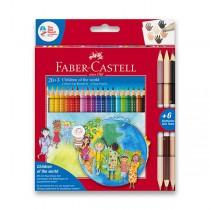 Pastelky Faber-Castell Colour Grip Children of the world 20 barev + 6 barev