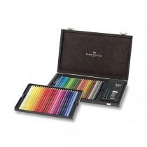 Pastelky Faber-Castell Polychromos dřevěná kazeta, 48 barev