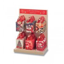 Papírové minitašky Vánoce stojánek, 60 ks, mix motivů