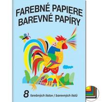 Barevné papíry školní - složka 8 listů
