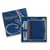 Waterman Expert Blue GT kuličková tužka, dárková kazeta se zápisníkem
