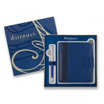 Waterman Hémisphère DeLuxe Blue Wave kuličková tužka, dárková kazeta se zápisníkem