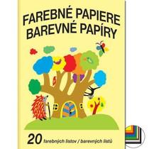 Barevné papíry školní - složka 20 listů