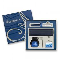 Waterman Emblème Blue CT plnicí pero, dárková sada s pouzdrem a inkoustem