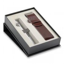 Parker Urban Premium Silver Powder CT kuličková tužka, dárková sada s pouzdrem
