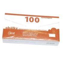 Samolepicí obálky bez okýnka, dlouhé, 100 ks